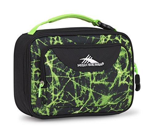 High Sierra Single Compartment Lunch Bag, Lime (Bag Black Green)