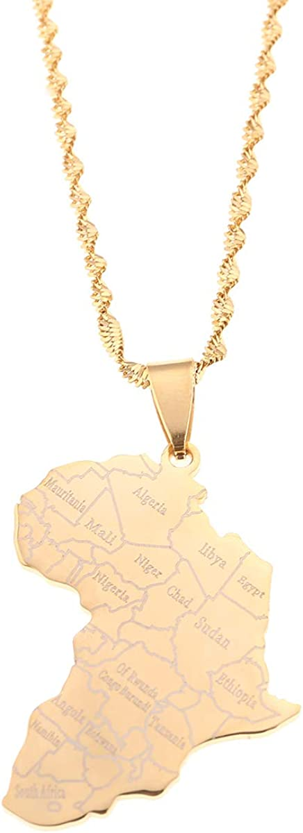 Africa pearl necklace Hanessa White womens and mens jewellery country map of Africa made of wood.
