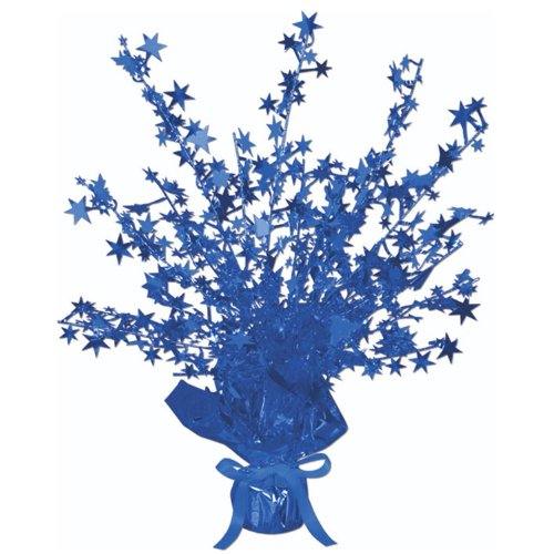 - Beistle 50806-B Star Gleam 'N Burst Centerpiece, 15-Inch