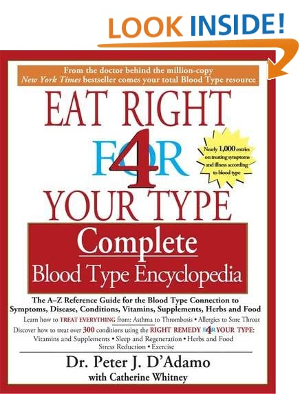 eat right for your type complete blood type encyclopedia pdf