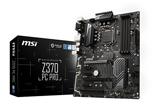 MSI Pro Series Intel Coffee Lake LGA 1151 VR Ready 64GB DDR4 CFX ATX Motherboard (Z370 PC PRO) by MSI