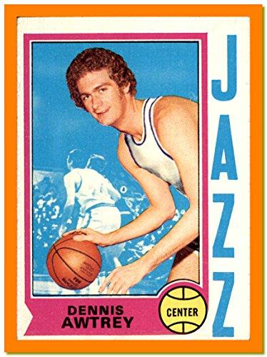 1974-75 Topps VINTAGE NBA Basketball Card #74 Dennis Awtrey UTAH JAZZ SANTA CLARA (poor light stain bottom border)