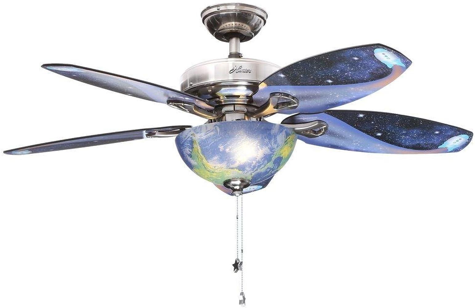 Hunter descubrimiento 48 en. Interior cepillado níquel ventilador de techo: Amazon.es: Ropa y accesorios