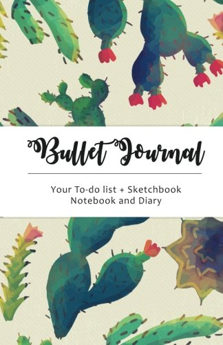 Cactus Bullet Journal: Cactus Dot Grid, 130 Dot Grid Pages, 5.5x8.5, High Productivity & Professional Notebook System