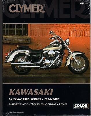 (1996-2008 CLYMER KAWASAKI MOTORCYCLE VULCAN 1500 SERIES SERVICE MANUAL M471-3)