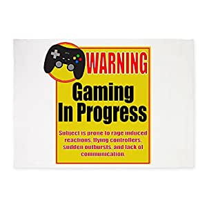 CafePress - Gaming In Progress - Decorative Area Rug, 5'x7' Throw Rug