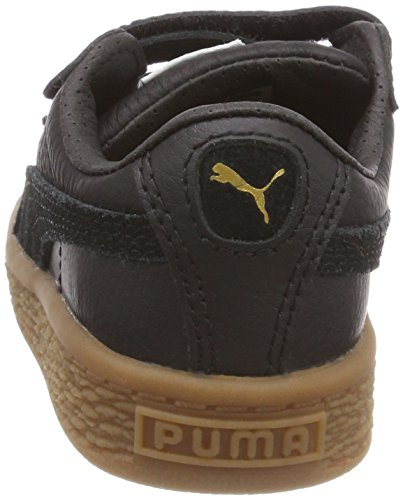 Puma Basket Classic Gum Deluxe V Inf, Zapatillas Unisex Niños Negro (Puma Black-puma Black)