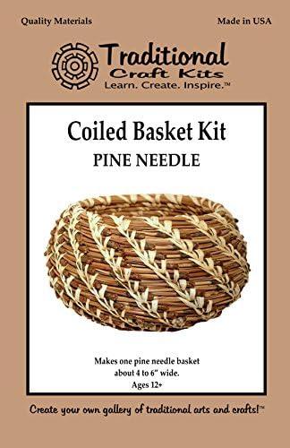 Traditional Craft Kits Complete Pine Needle Basket Kit