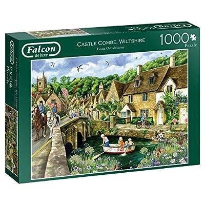 Jumbo 11233 Falcon De Luxe Castle Combe Wiltshire Puzzle Da 1000 Pezzi