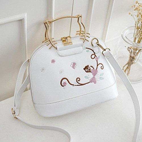 Aoligei Sac de réservoir Chaozhou broderie sac à main femme mode Portable sac Simple bandoulière besace C