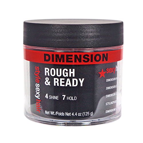 Extra Rough (Sexy Hair Sysh Rough and Ready Dimension Pomade with Hold, 4.4 Ounce)