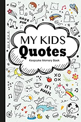 my kids quotes keepsake memory book preserve silly memorable