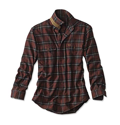 Orvis Men's Fairbanks Plaids and Checks Shirt, Red/Black, Large