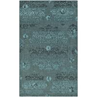 Safavieh Palazzo Collection PAL129-56C4 Black and Turquoise Area Rug (5 x 8)