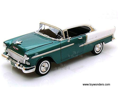 - 73185ac/gn Motormax Premium American - Chevy Bel Air Hard Top (1955, 1:18, Green & White) 73185 Diecast Car Model 1 18 Vehicle Toy Auto Automobile Metal