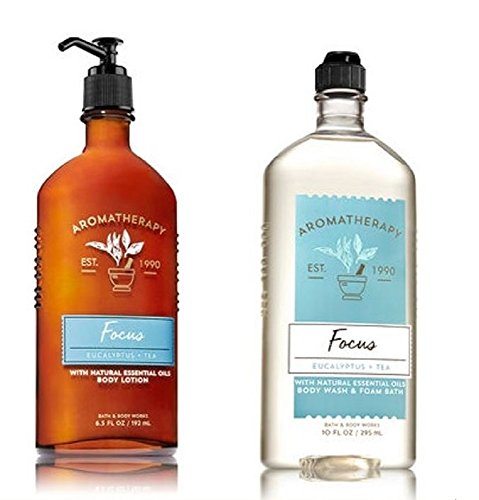 Bath & Body Works - Aromatherapy - Body Wash & Lotion Set - Focus - Eucalyptus & Tea by Bath & Body Works