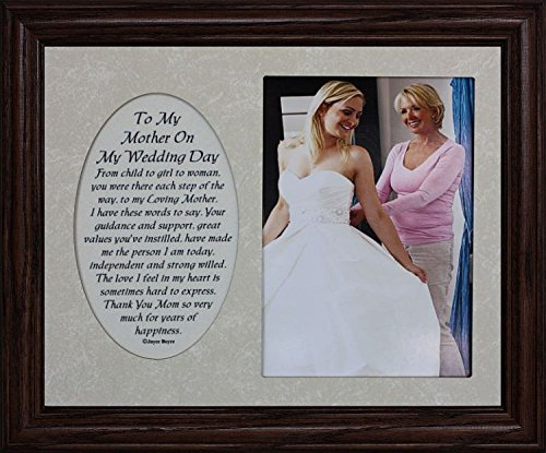 PersonalizedbyJoyceBoyce.com 8x10 to My Mother ON My Wedding Day ~ Photo & Poetry Frame ~ Holds a Portrait 5x7 Picture (Walnut #830)