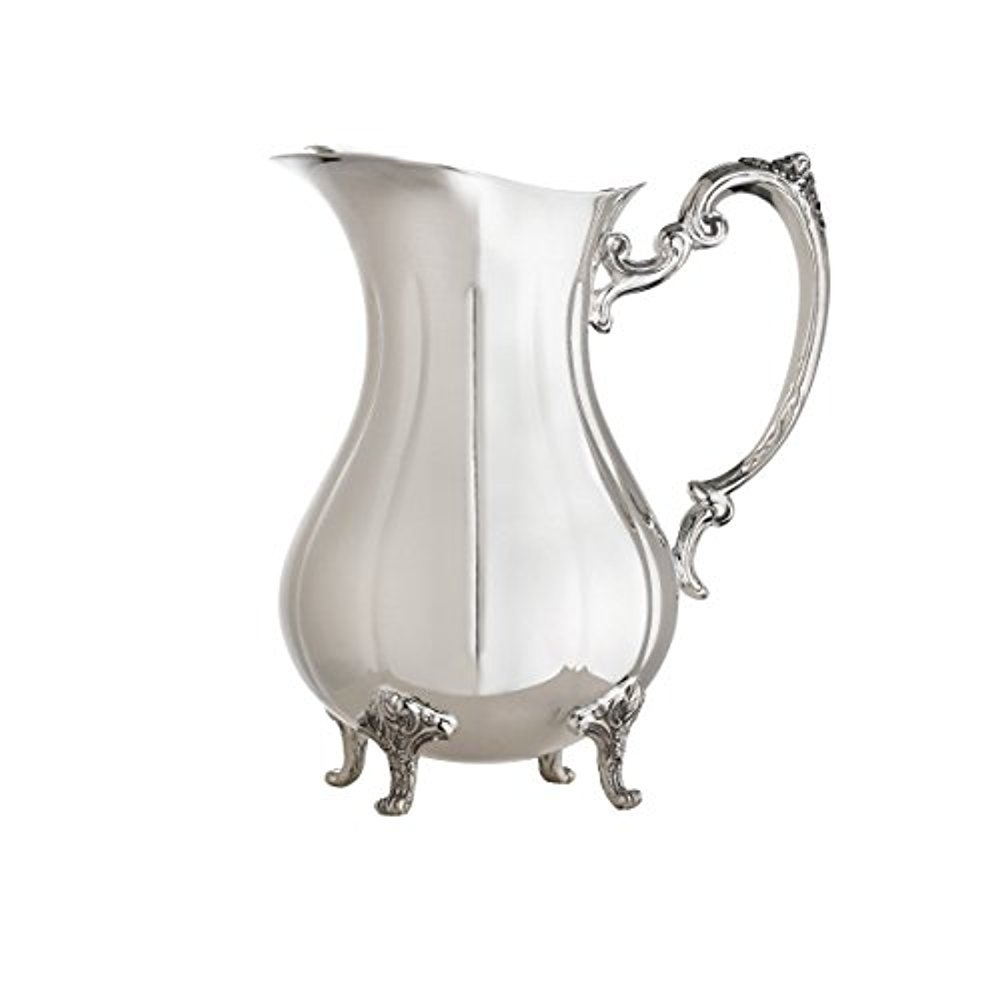 Reed & Barton Silver-plated Burgundy Collection 2 Quart Footed Water Pitcher With Ice Guard