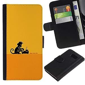 All Phone Most Case / Oferta Especial Cáscara Funda de cuero Monedero Cubierta de proteccion Caso / Wallet Case for Sony Xperia Z3 Compact // Monkey Business Writer