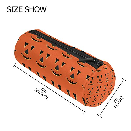 LORVIES Halloween Pumpkin Faces Pattern Pencil Case Pen Bag Pouch Organizer Large Capacity Stationery Cosmetic Bags Zipper Pouch Purse Kids (Halloween Pumpkin Faces Patterns)