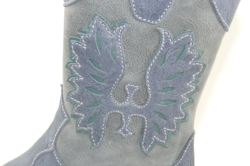 Stivali grau Blu Donna D'oro Zecchino hellblau wqO6W