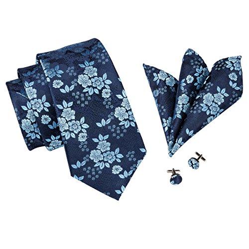 CAOFENVOO Men's Tie Set Woven Silk