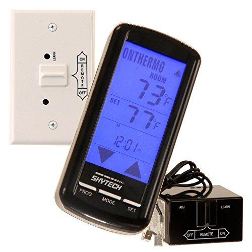 (SkyTech SKY-5301 Fireplace-remotes-and-thermostats, Black)