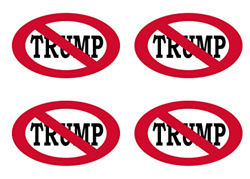 Rogue River Tactical Anti Trump No Trump Sticker Bumper Sticker Oval 5