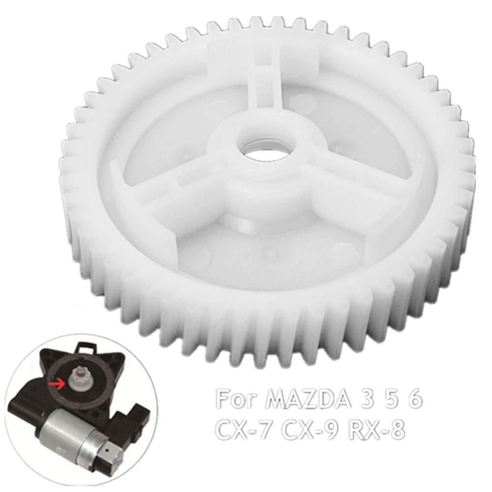 BAAQII 2PCS Replacement Front Rear Power Window Lift Regulator Motor Gears for MAZDA 3 5 6 CX-7 CX-9 RX-8