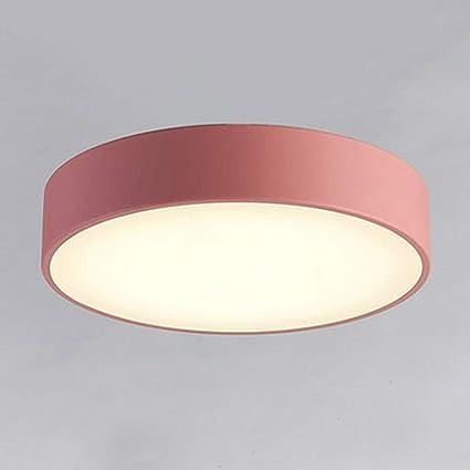 GX Lámpara de Techo Plafón Redondo de LED Macaron, Pantalla ...