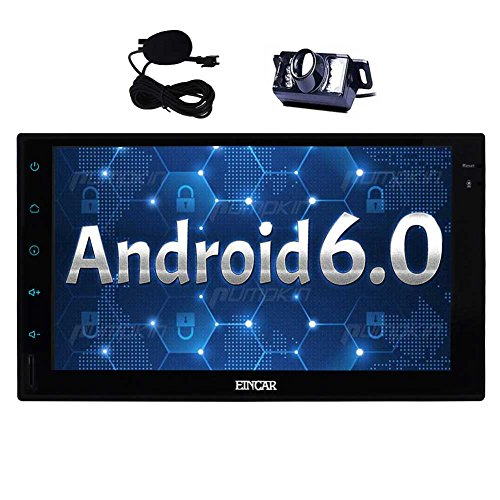 Free Backup Camera + 7'' Android 6.0 Car Stereo - Double Din In Dash Bluetooth Radio - GPS Navigation No-DVD/CD Player - 64GB USB SD WiFi OBD2/Subwoofer(optional) Mirror Link + External Microphone