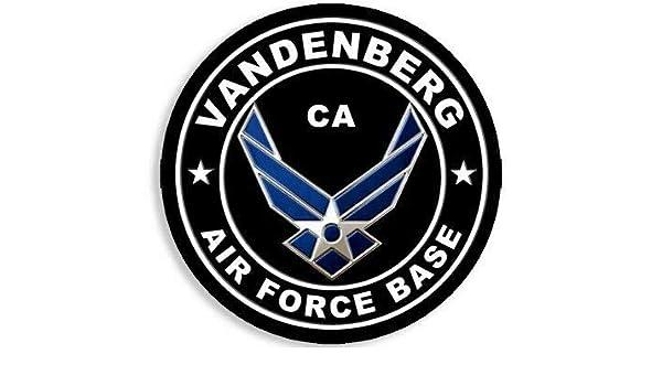 4x4 inch Round Vandenberg Air Force Base Sticker California ca USAF AFB