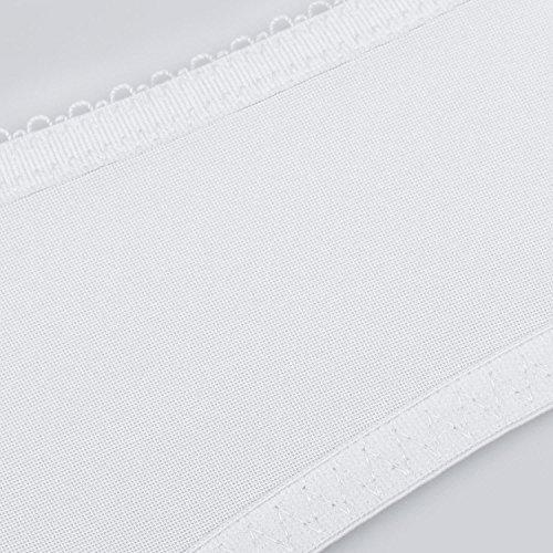 Delimira - Sujetador de Copa Completa Con Aros Encaje Para Mujer Blanco
