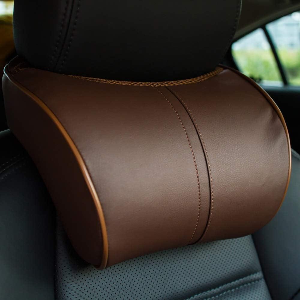 FADJIKKP Reposacabezas del Coche, de Rebote Lento de Espuma de Memoria, Respetuoso del Medio Ambiente Respirable de la Cintura Apoyo for la Cabeza, Conveniente for los recambios del vehículo