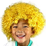 Wigs For Party, Party Disco Funny Afro Clown Hair Football Fan-Kids Afro Masquerade Hair Wig  E