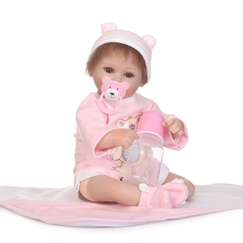 chinatera Little Girls Toy NPK Lifelike Simulation Reborn Cute Doll Soft Silicone Artificial Kids Cloth Doll by chinatera (Image #1)
