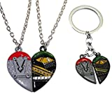 New Horizons Production Loki & Thor Set of 2 Best Friends Half-Heart PENDANTS & KEYCHAIN SET