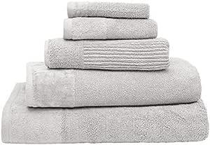 Bambury Costa Towel Range Face Washer, Silver