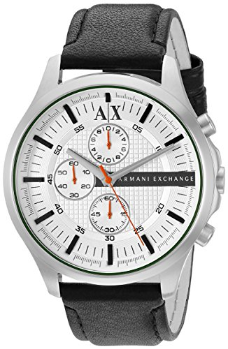 Armani Exchange Men's AX2165 Black  Leather - Online Armani Exchange
