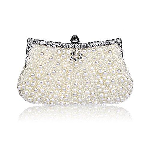 Shoulder Cheongsam Dinner Hot Bag Bag Hand Bridal rhinestonewhite Luxury Bag Explosion YXLONG Bag Diagonal Fashion Pearl Dress tPFw45qxY