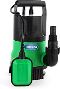 Sump Pump, 1/2 HP 2112GPH Sump Pump Submersible Clean/Dirty Water Pump Electric Clean Water Pump for Swimming Pool Garden Tub Pond Flood with Automatic Float Switch