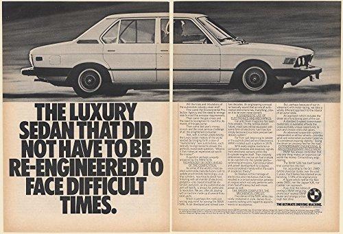 1981 BMW 528i Luxury Sedan Did Not Have to be Re-Engineered 2-Page Print Ad (Memorabilia) (61174) (528i Sedan Bmw)