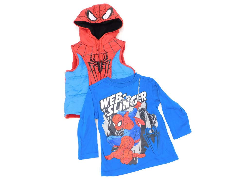 Marvel Little Boys' Spider-Man 2 Piece Vest Set
