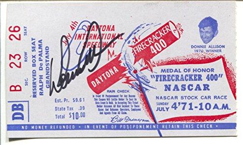 Daytona Int'l Speedway NASCAR Ticket Stub-Firecracker 400 7/4/1971-FN/VF