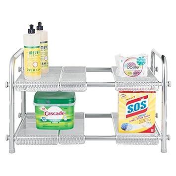 mDesign mueble auxiliar cocina - Estante cocina con dos baldas ...