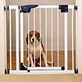 """Cheap Pet Studio Pressure-Mounted Plastic Gates for Dogs and Pets – White; 30″-35½""""W x 29″H x 2″D"""