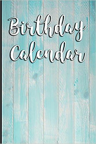 Birthday Calendar Blank Perpetual Amazonde Signature Logbooks Fremdsprachige Bucher