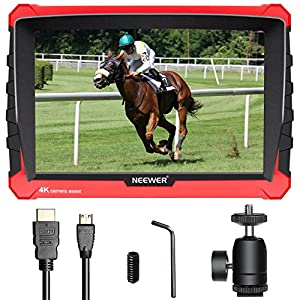 Neewer NW-A7S Camera Field Monitor with Silicone Case: 7-inch 4K 1920x1200 IPS Screen, HDMI Input/Output 16:10 or 4:3 Adjustable Display Ratio for Sony Canon Nikon Olympus (Battery Not Included)