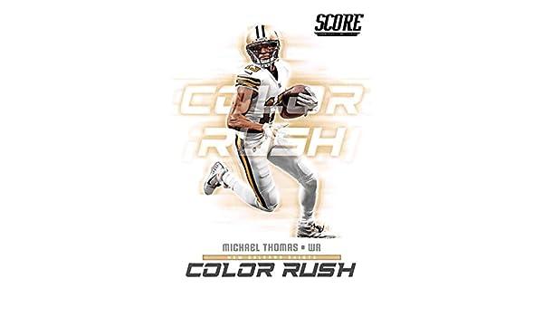 3a43ba9de Amazon.com: 2018 Score Color Rush #14 Michael Thomas New Orleans Saints  Football Card: Collectibles & Fine Art
