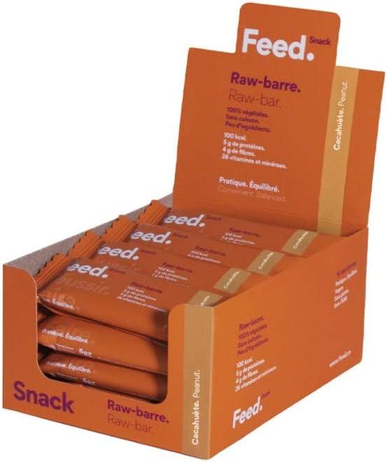 Raw-barra Cacahuete - Feed. Snack - Paquete de 32 x 28g ...